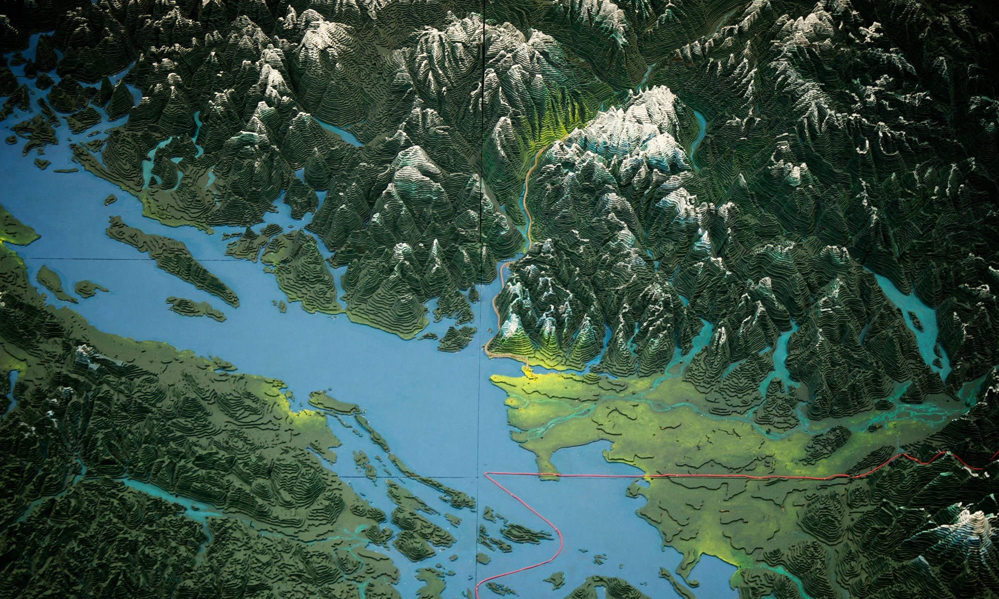 The Challenger Relief Map of British Columbia